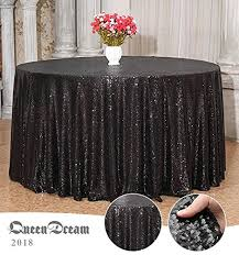 queendream good news 132 round luxury shiny black sequin tablecloth sequin tablecloth fabric black sequin feast tablecloth