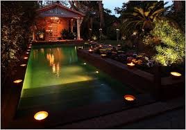 outdoor lighting effects. Incredible Outdoor Pool Lighting Effects For Elegant Backyard With Pavilion Design Ideas
