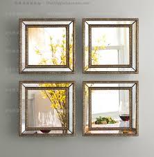 mirrored wall decor fretwork square wall mirror framed wall art set of four square wall decorative x popular wall decor mirror sets