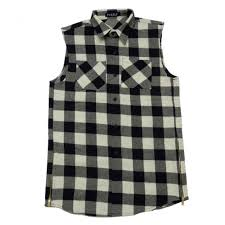 Small Picture Puzzle Sleeveless Side Zip Check Shirt Warp As Worn By Justin