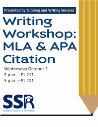 Writing Workshop Mla Apa Citation Wesley College