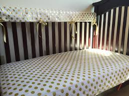 white and gold polka dot sheets
