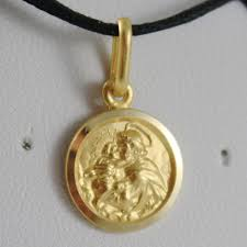 details about solid 18k yellow gold st saint anthony padua sant antonio medal made in italy
