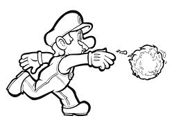 Disegno Di Mario Bros Palla Di Fuoco Da Colorare Per Bambini