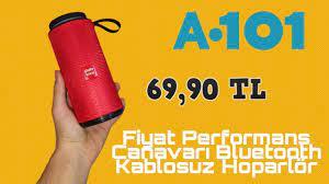 A-101'e 69.90'a Gelen Bluetooth Kablosuz Hoparlör (Fiyat Performans  Canavarı!) - YouTube