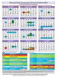 2018 19 School Year Elm Epcusd 401 Calendars