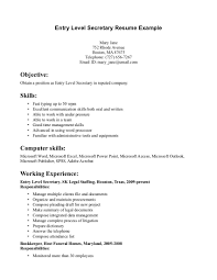 Resume Secretary Sample Resume