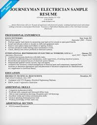 Electrician Resume Examples Cool Journeyman Electrician Resume Experience Resumes
