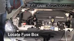 blown fuse check chevrolet impala chevrolet blown fuse check 2006 2016 chevrolet impala 2007 chevrolet impala ls 3 5l v6 flexfuel