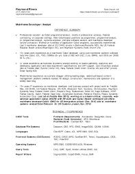 resume mf cobol dev raymond rivera 09 2016 - Cobol Programmer Resume