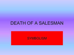 death of a salesman symbolism essay death of a salesman act to be or not to be success vs failure