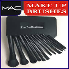 m a c makeup brush set 12 pcs set in steel box at best s in stan daraz pk