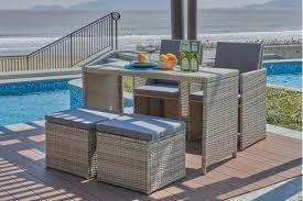 chalk 5pc space saver outdoor set