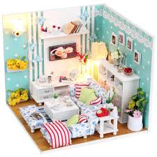wholesale wooden doll dinning house furniture. wonderful doll diy miniature wooden doll house furniture kits toys handmade craft  model kit dollhouse gift and wholesale dinning