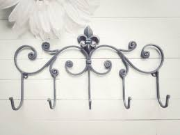 Metal Coat Hook Rack Impressive Fleur De Lis Decor Metal Wall Hanger Wall Hook Jewelry Rack