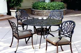 48 round table patio furniture dining set cast aluminum powder coated inch runner 48 round table