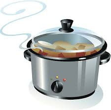 Image result for crockpot clipart black and white