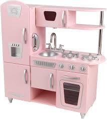 Melissa And Doug Retro Kitchen Amazoncom Kidkraft Vintage Kitchen In Pink Toys Games