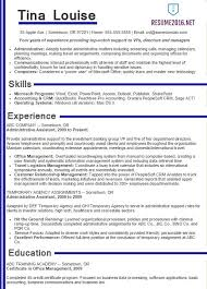 Job Resume Samples 2016 Experience Resumes