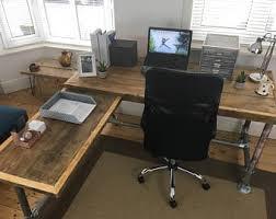 rustic office desk. Rustic, Industrial Handmade Office Desk, Made From Reclaimed Scaffold Boards Rustic Desk