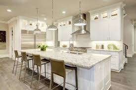 transitional kitchen ideas. Transitional Kitchen With Pendant Lights And Marble Island.Photo By Greengage Interiors Limited - Browse Ideas E