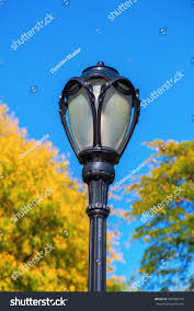 antique street lamp in central park manhattan new york city