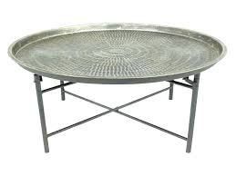 round metal coffee table antique bronze metal storage