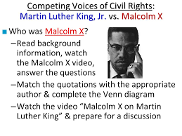 Differences Between Mlk And Malcolm X Venn Diagram Essential Question What Role Did Martin Luther King Rosa Parks