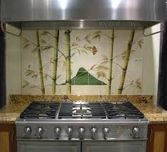 Tile Murals For Kitchen Kitchen Remodel Asian Bamboo Tile Murals Thomas Deir Honolulu Hi