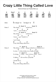 crazy little thing called love sheet music crazy little thing called love sheet music by queen ukulele 120001