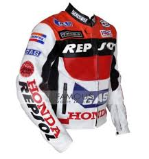 2 reviews for honda repsol red white racing motorcycle jacket