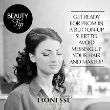 get ready for prom in a on up shirt to avoid messing up your hair