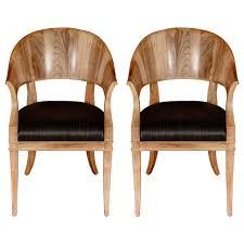 art deco era furniture. Bleached Walnut French Art Deco Style Chairs For Sale Era Furniture