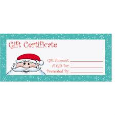 Kris Kringle Fill In The Blank Gift Certificates Paperdirects