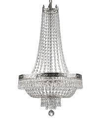 empire crystal four light cascade chandelier