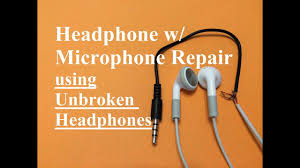 headphone w microphone repair unbroken headphone set headphone w microphone repair unbroken headphone set