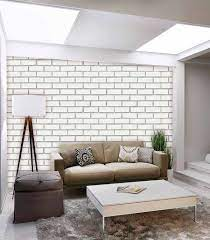Wallter Brick Design Wallpaper White 3D ...