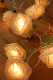 Cream Rose Fairy Lights Oh There Will Be Fairy Lights Fairy Lights Lighting
