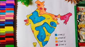 Based on these three factors, the bureau of indian standards has grouped india into 4 seismic zones Seismic Zones Drawing On India Map With Watercolor Easy Step By Step Earthquake Seismic Zones Youtube