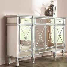 mirrorred furniture. Cablanca 4-Door 3-Drawer Silver Accent Cabinet Mirrorred Furniture