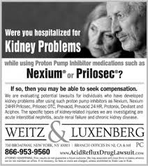 Weitz Luxenberg Were You Hospitalized For Kidney Problems While Using Proton Pump