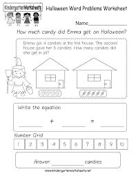 kindergarten word problems worksheet printable