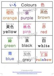 Japanese Colour Chart Colour Charts In Japanese Japanese Language Japanese
