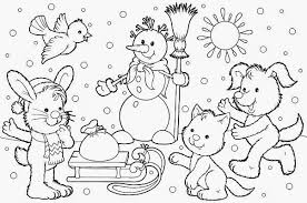 Small Picture In Winter Animals Printable Book Coloring Coloring Pages