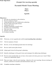 agenda of a meeting format download first meeting agenda sample for free formtemplate