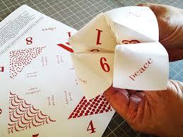 Christmas Paper Fortune Teller