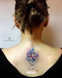 фото татуировки лотос в стиле авторский акварель графика лайнворк