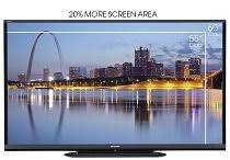 sharp 60 inch smart tv. smart tv. view larger · 20 percent more viewing area sharp 60 inch tv