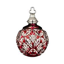 Annual Ornaments Amazon Com Waterford Annual Red Cased Ball Crystal Christmas