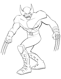 Small Picture Superhero X Men Wolverine Coloring Page H M Coloring Pages